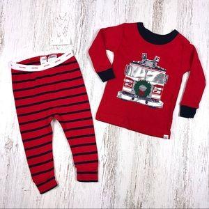 NWT Baby Gap Christmas PJ's Firetruck 6-12 Month